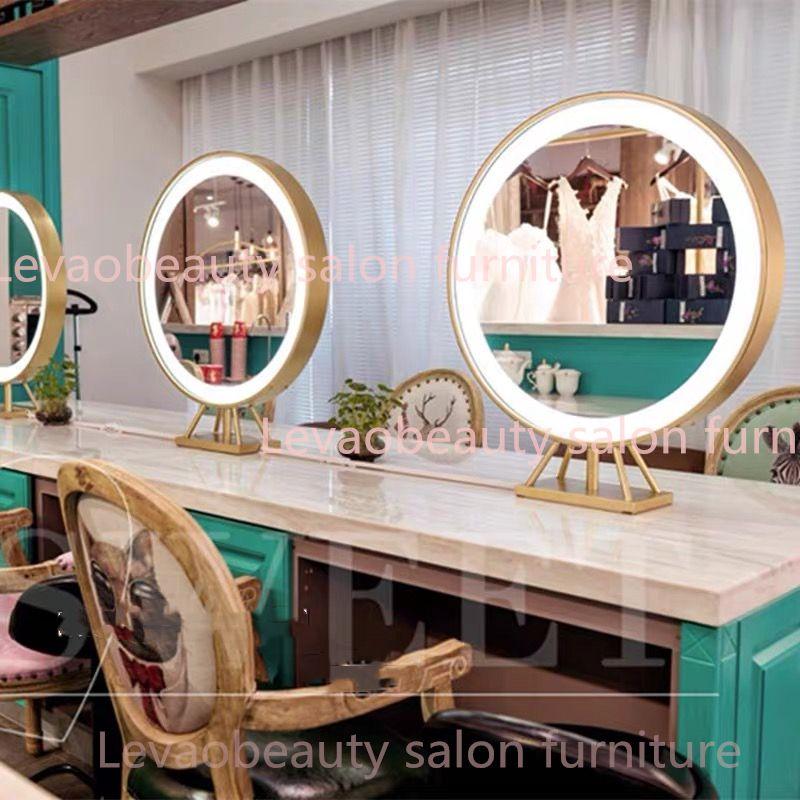 Hair Salon, Round Salon Mirrors With Lights