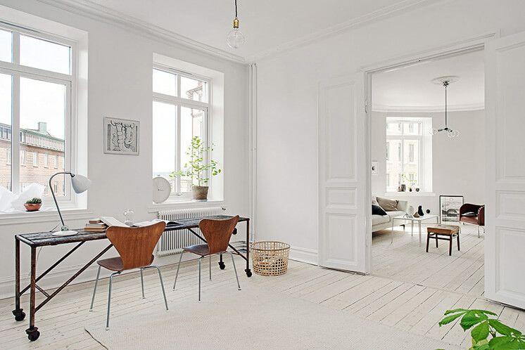 Workspace gothenburg apartment by alvhem brokerage interiors