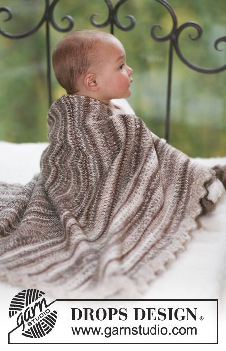 Woodland Blanket / DROPS Baby 17-17 - Manta de punto para bebés en 2 ...