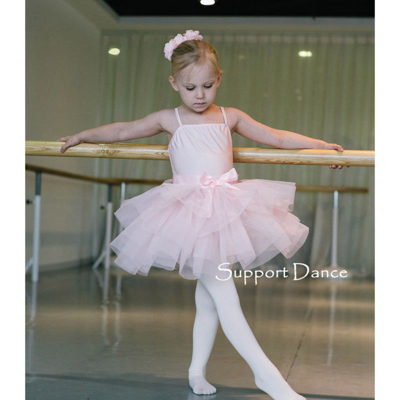 Click to Buy << Support-Dance Bow Tutu Dress Kids Adult Ballet Dance ...