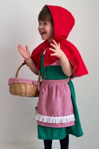 54189662198ec7 Rotkäppchen Kostüm für Kinder nähen | Halloween | Rotkäppchen kostüm ...