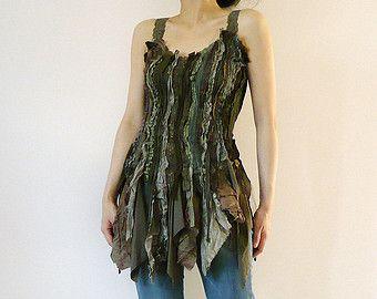 Forest fae fairy tree bark tunic