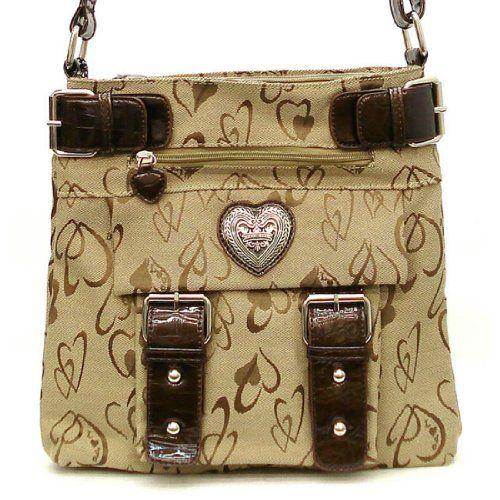 Designer DIOPHY Taupe Canvas heart signature pockets Cross-Body Messenger L Bag allofpurses -Diophy http://www.amazon.com/dp/B00HQ5U0NY/ref=cm_sw_r_pi_dp_icVFwb18DR5RV