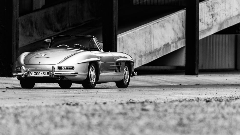 Your Ridiculously Awesome Mercedes 300sl Roadster Wallpaper Is