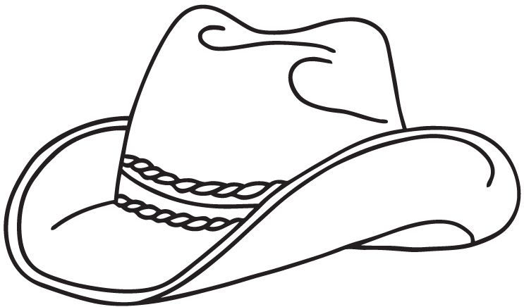 Realistic Cowboy Hat Free Coloring Pictures To Print Enjoy