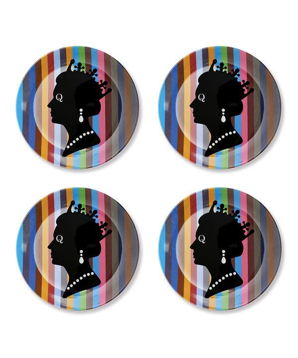 Look at this Queen Plate - Set of Four on #zulily today!