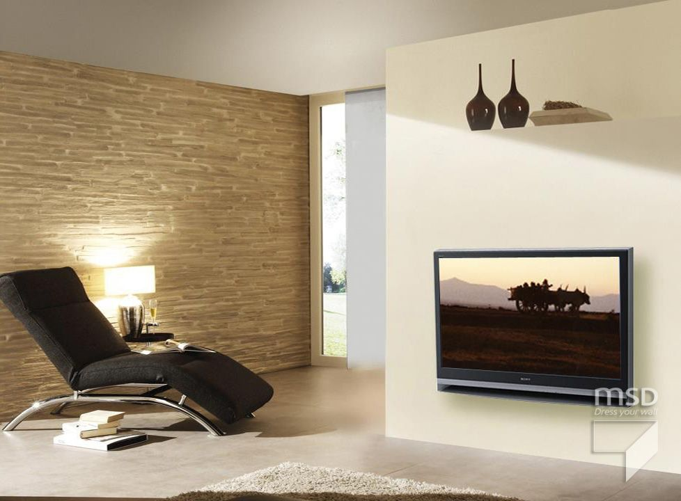 Design Your Living Room Walls With The Help Of Polyester Stone Panels