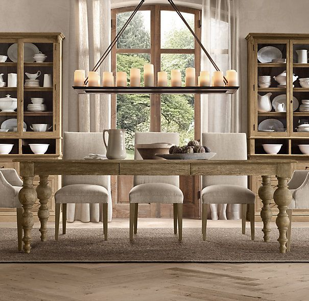 Restoration Hardware Kitchen Tables: Grand Baluster Rectangular Extension Dining Table