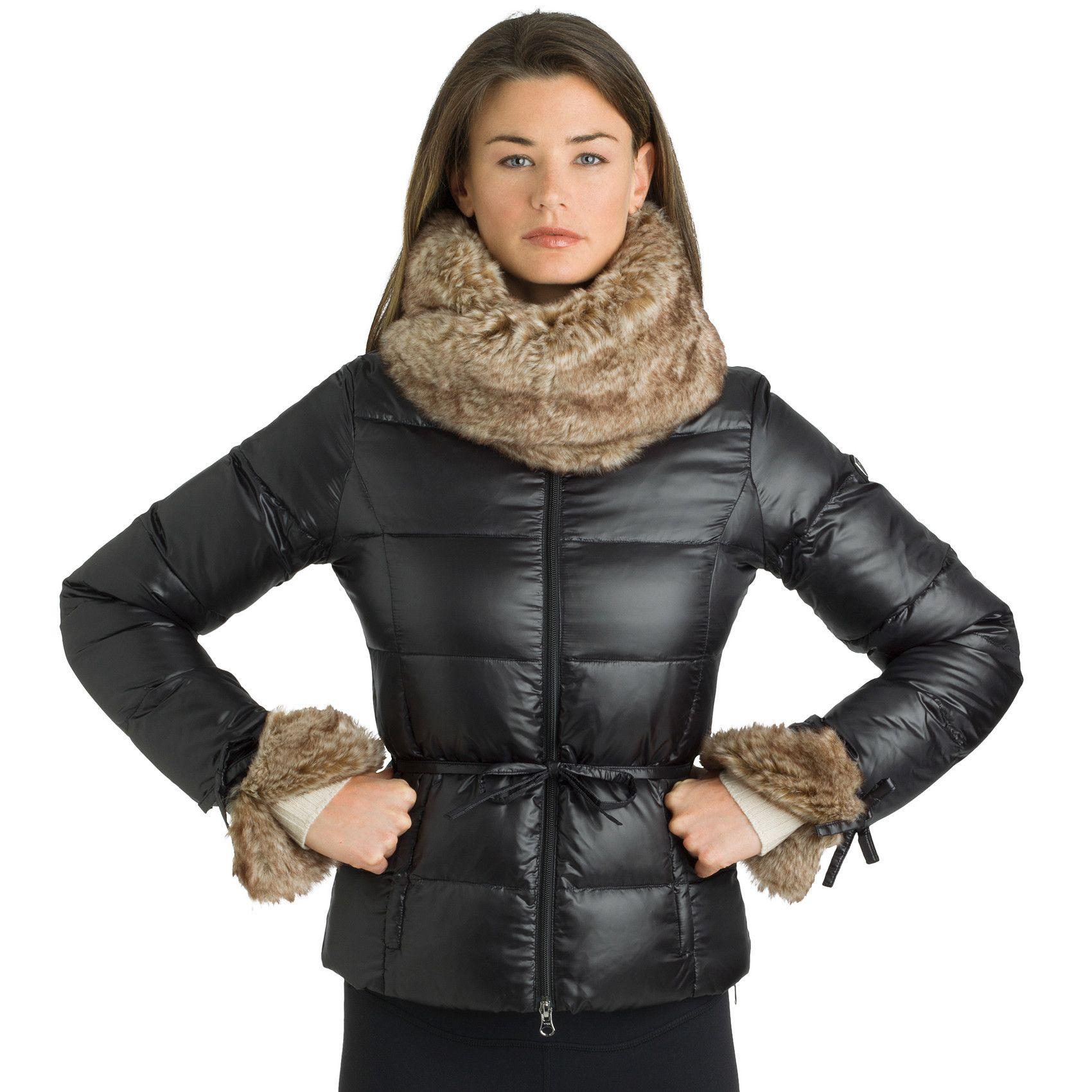 Fur Lined Jacket Eco Fur Wrap Collar Down Jacket Jackets Down Jacket Fur Wrap [ 1700 x 1700 Pixel ]