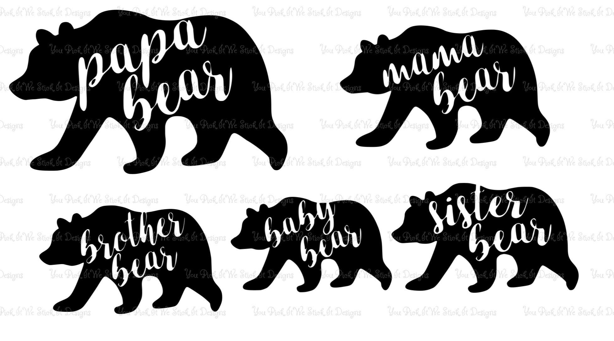 """Brother Bear side by side bumper sticker wall decor vinyl decal 5/"""" x 4/"""""""