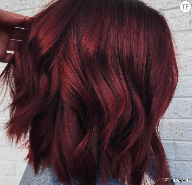 Coloration tendance 2018  les cheveux vin chaud