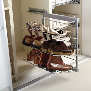 Pull Out Tiered Shoe Rack Custom Made Bedrooms