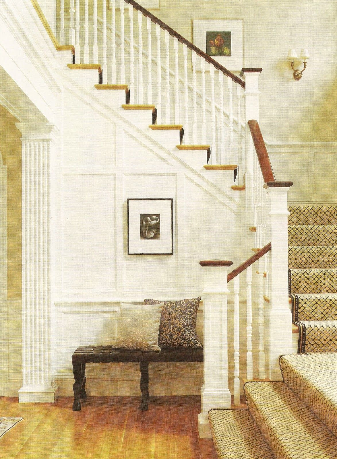 Paneled Staircase Paneled Stairwell Yournestdesign Blogspot Entry