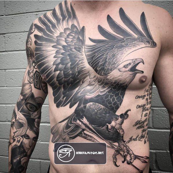 75 hình xăm đại bàng đẹp ở lưng ngực cánh tay cho nam eagle