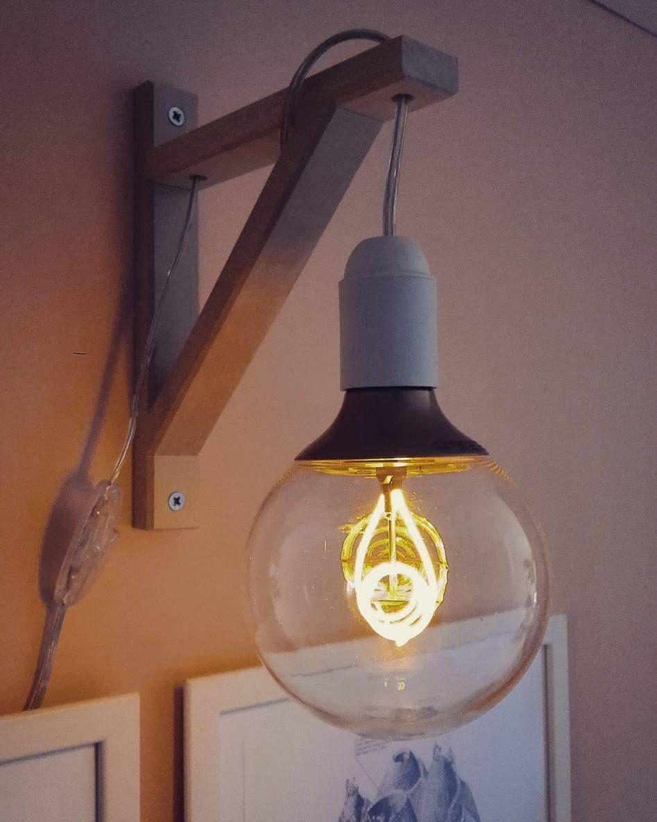 Lampada da parete fai da te gi creative design nel 2019 for Lampade da parete ikea