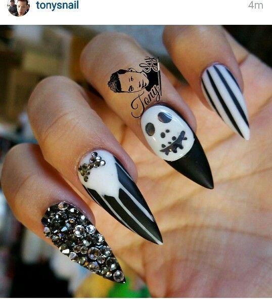 Jack skellington nails | Nailspiration | Pinterest | Jack ...