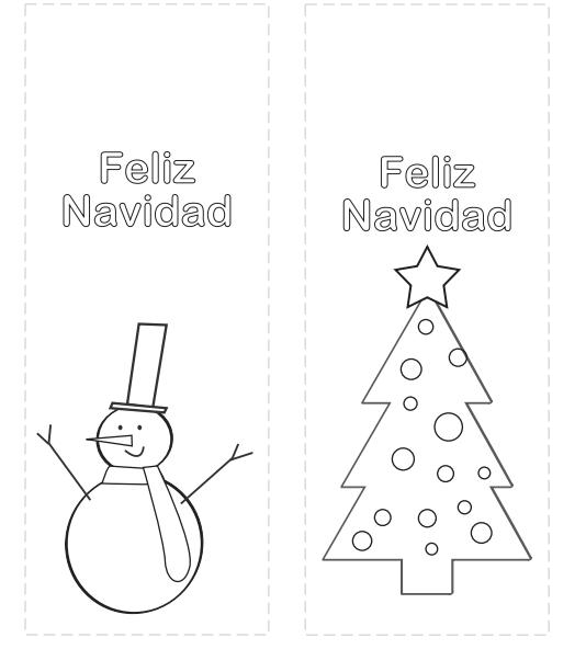 Marcapáginas de Navidad para colorear | Marcapáginas, Colorear y Nieve