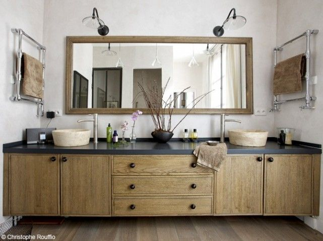 1000 images about salle de bain on pinterest design design bathtub faucets and deco - Meuble Bois Salle De Bain