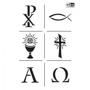 Stencils Christliche Symbole Din A 4 Osterkerze Kerzen Gestalten Kerzen Basteln