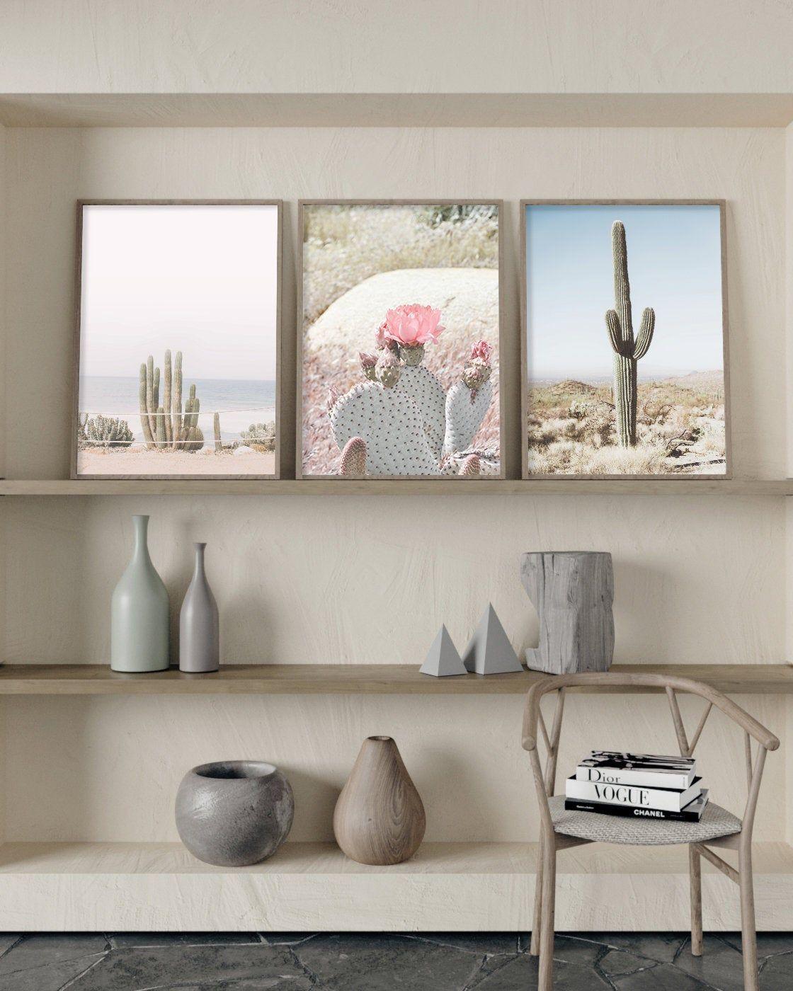 Cactus print set printable wall art modern wall art