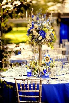 Royal Blue With Gold Wedding