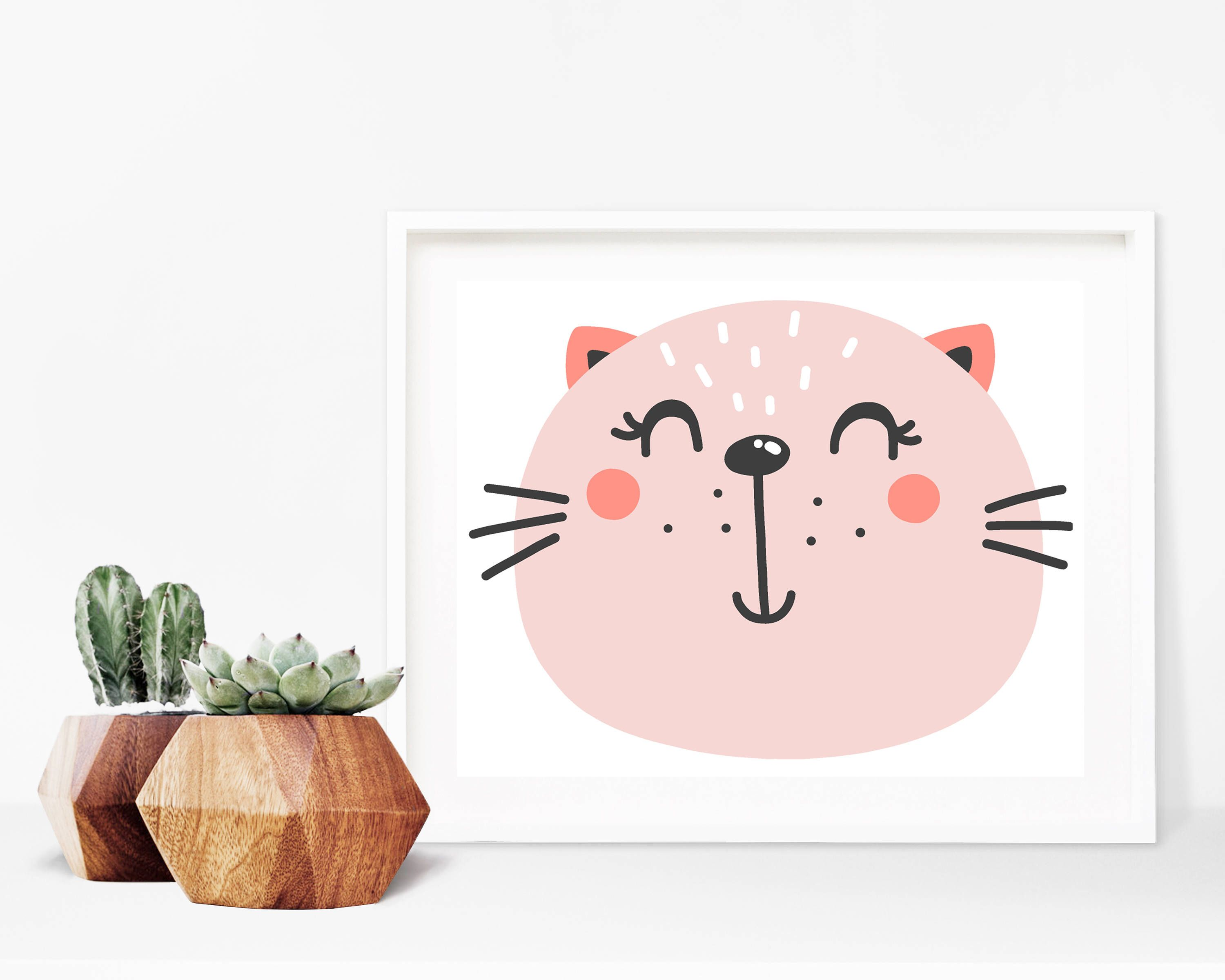 Critter Face Print - Printable Wall Art, 8x10 Kids Print, 8x10 Nursery Print, Printable Home Decor, Kids Decor, 8x10 Print, Kids Bedroom by creamcityprintables on Etsy https://www.etsy.com/listing/522185092/critter-face-print-printable-wall-art
