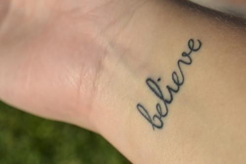 Pin By Danielle Ebelhar On Tattoo Pinterest Believe Tattoos