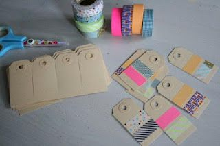 From my own blog - gift tags with masking tape.