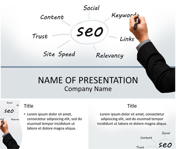 Seo powerpoint template business powerpoint templates pinterest seo powerpoint template toneelgroepblik Choice Image