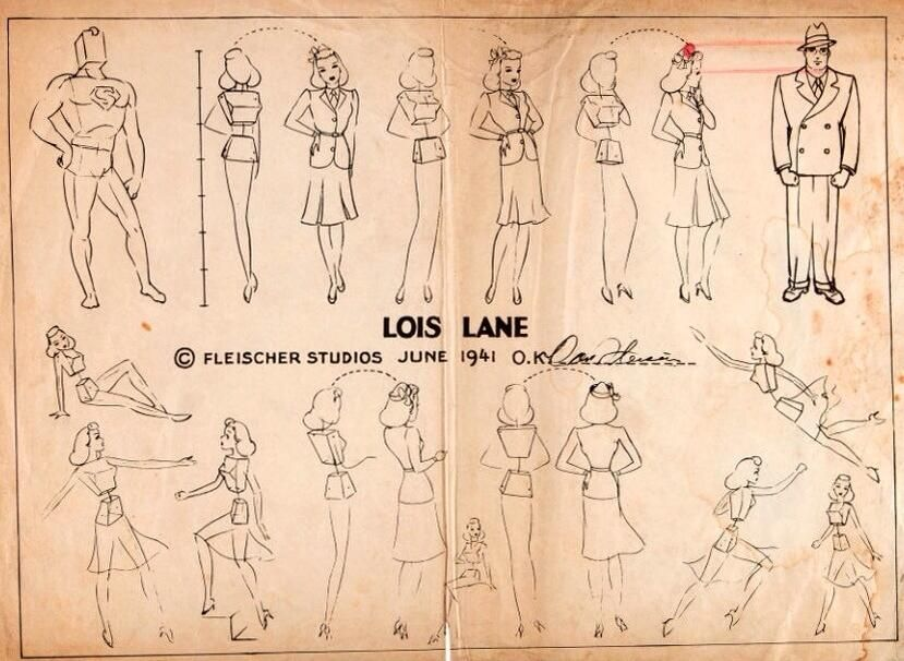How to draw Lois Lane. [height relative to Superman/Clark Kent] pic.twitter.com/ZjNm29PIc7 v @andykhouri @DanaDelany