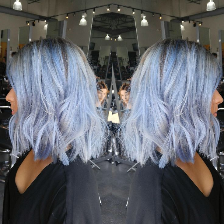 Shark Blue By Ion Over Wella T14 Toner Blue Hair Silver Hair