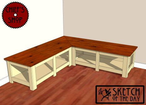 Sketch Of The Day Foyer Corner Bench Woodworking Chief S