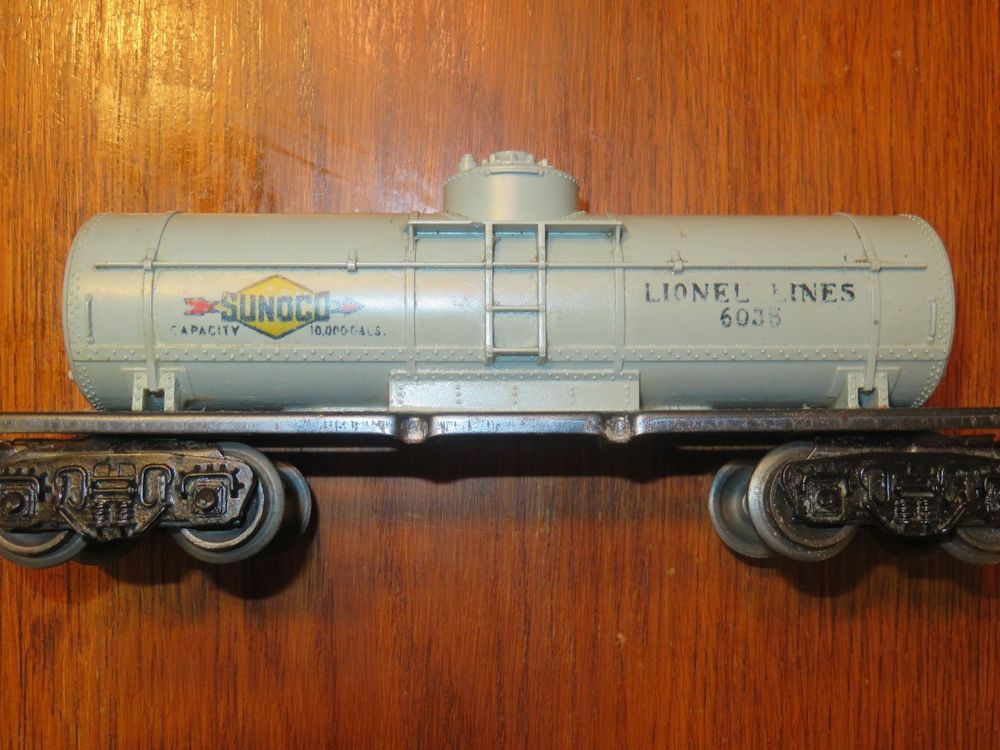 Vintage 1950s Lionel Tank Car Sunoco 6035 Mfg 1952 To 1953