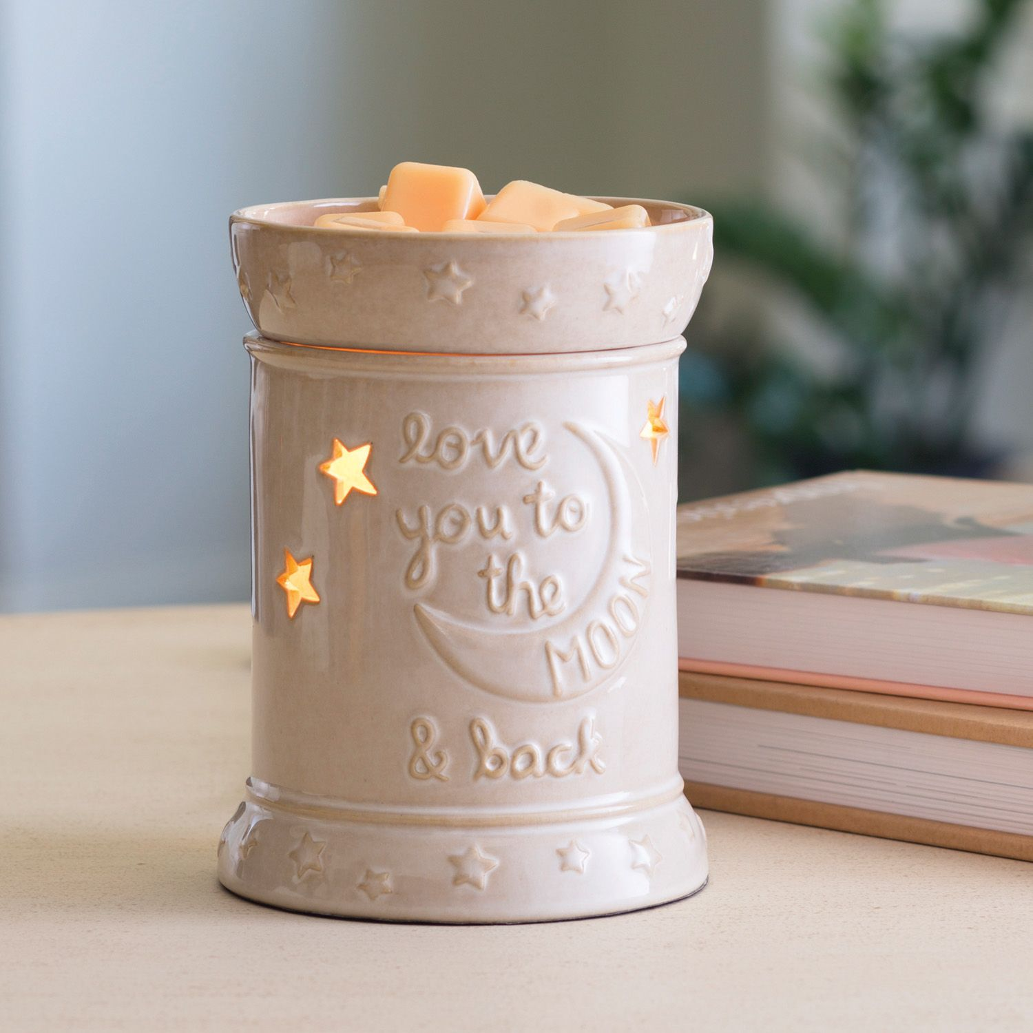 Love You To The Moon Fragrance Warmer The Cheeky Unicorn Boutique Scented Wax Warmer Candle Warmer Wax Warmer
