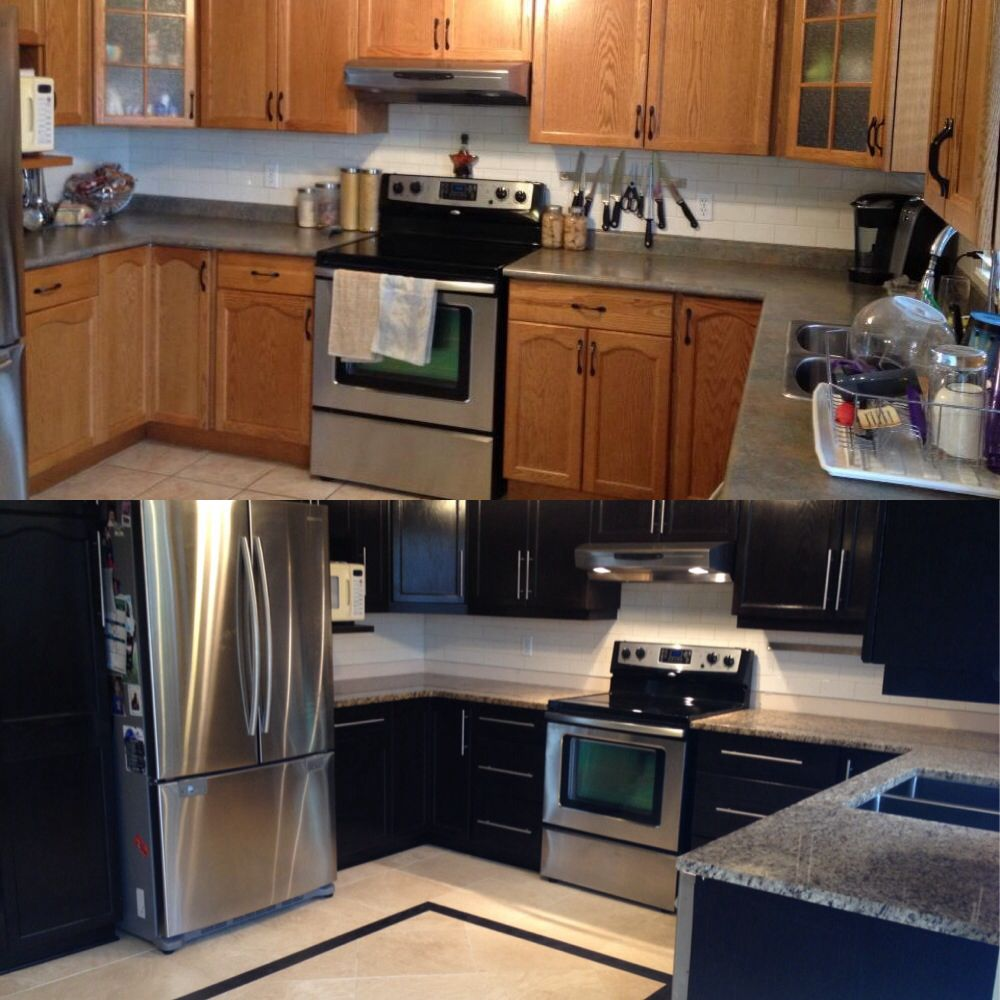restrained my kitchen cabinets using general finishes product java is the color kitchen on kitchen cabinets java id=24787