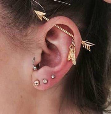 Imagenes De Tipos De Piercing En La Oreja Y Cartilago Tatuajes