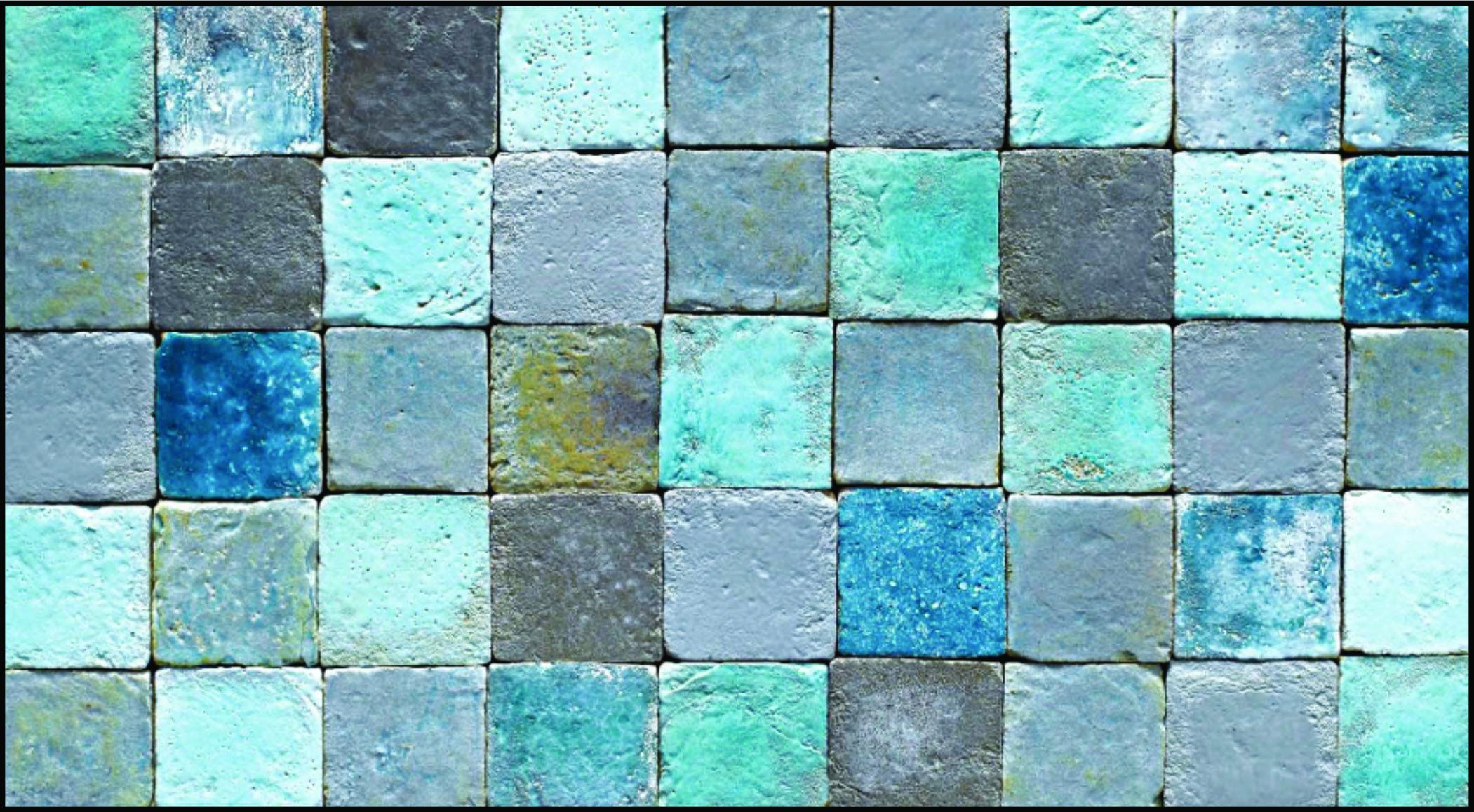 ägyptisches badezimmerdekor azzuro handmade terracotta tiles  stonemakerberlin in