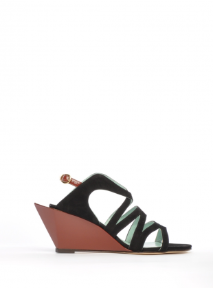 Young British Designers: Nautilus Sandals by Atalanta Weller - Only Atalanta could create mid height sandals with this much edginess. Easy to wear yet with so much to add to every summer look.