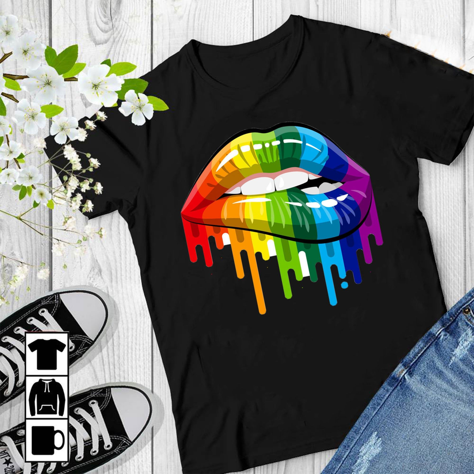 Bigger Problems T-Shirt lgbtq gay pride heart lesbian bi ladies scoop neck