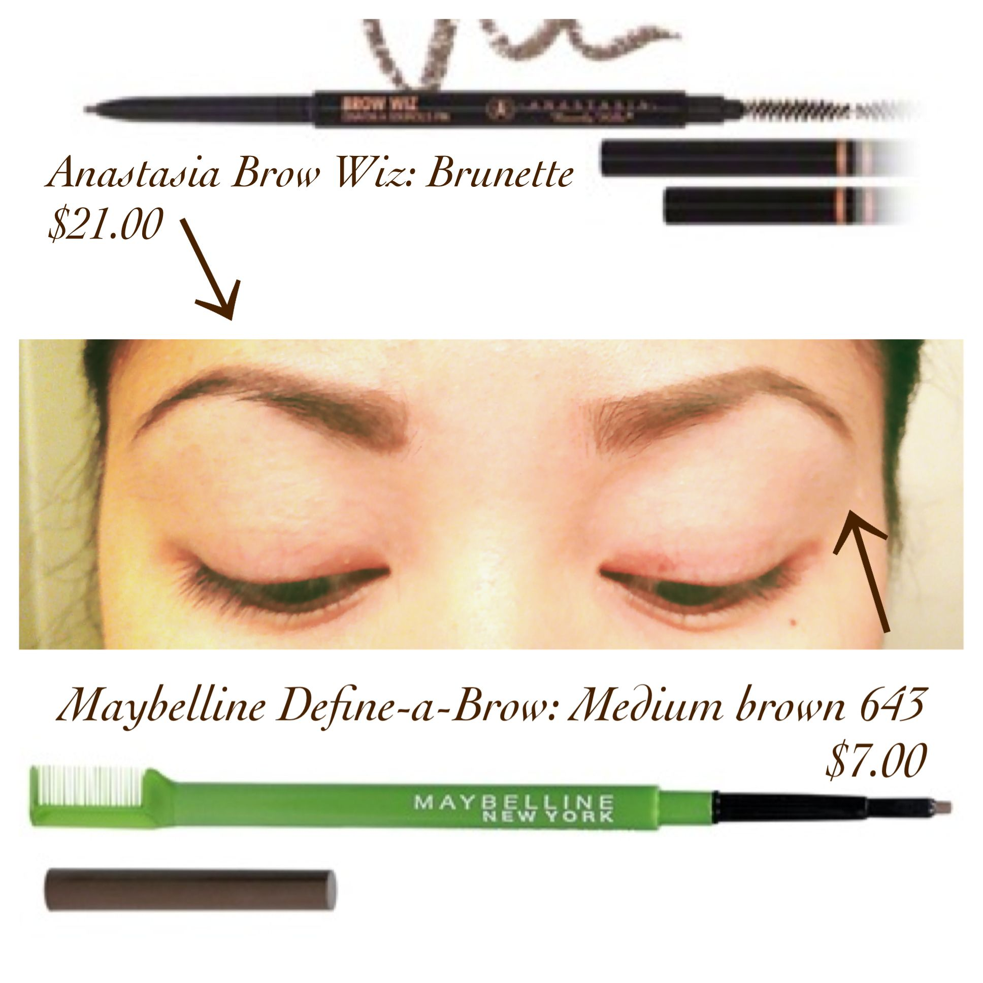 Anastasia Brow Wiz ($21.00) vs Maybelline Define-a-Brow ($7.00 ...