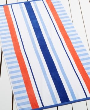 Martha Stewart Collection High Tide Stripe Beach Towel Only At