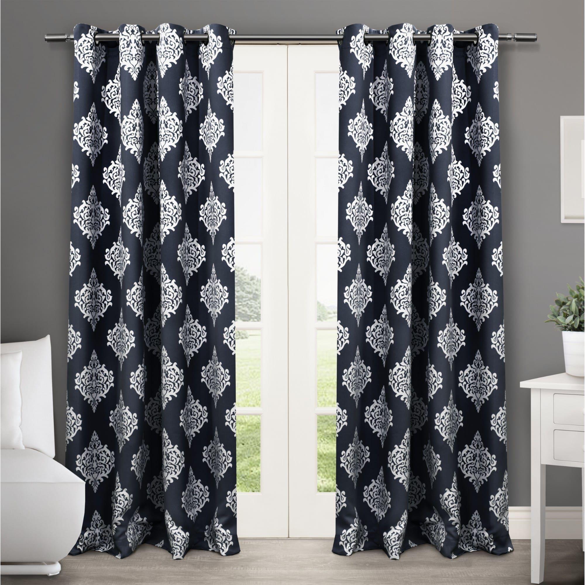 Gracewood Hollow Corine Medallion Pattern Blackout Curtain Panel
