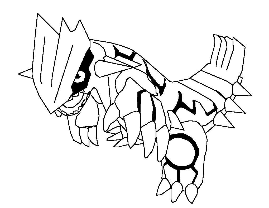 Pokemon coloring pages mega rayquaza - Pokemon Coloring Pages Earlier