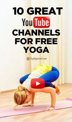 10 Great YouTube Channels for Free Yoga Videos #yoga #fitness #strength #yogabeach
