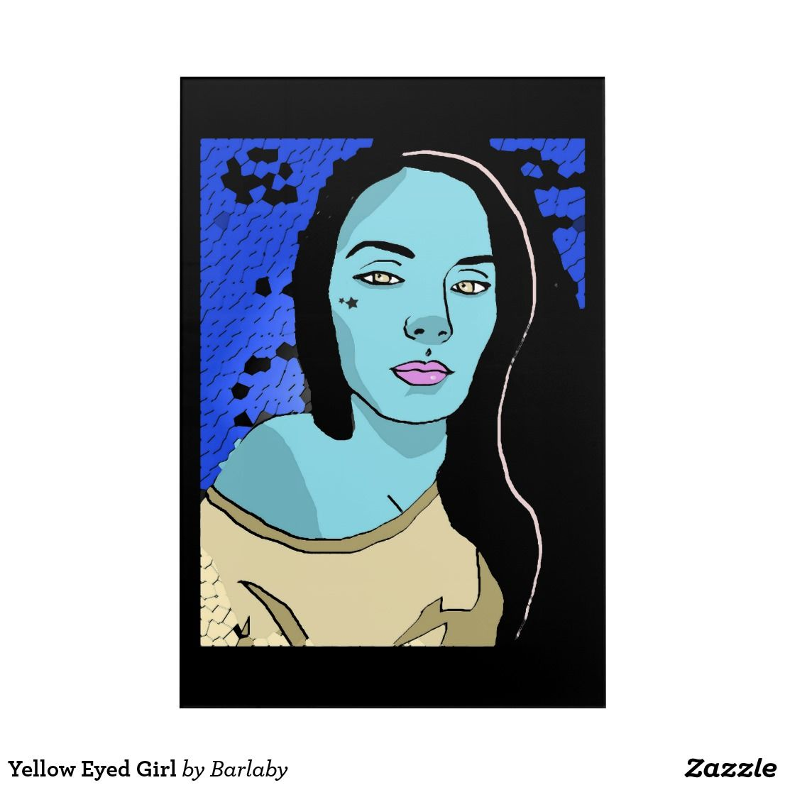 Yellow Eyed Girl Acrylic Wall Art