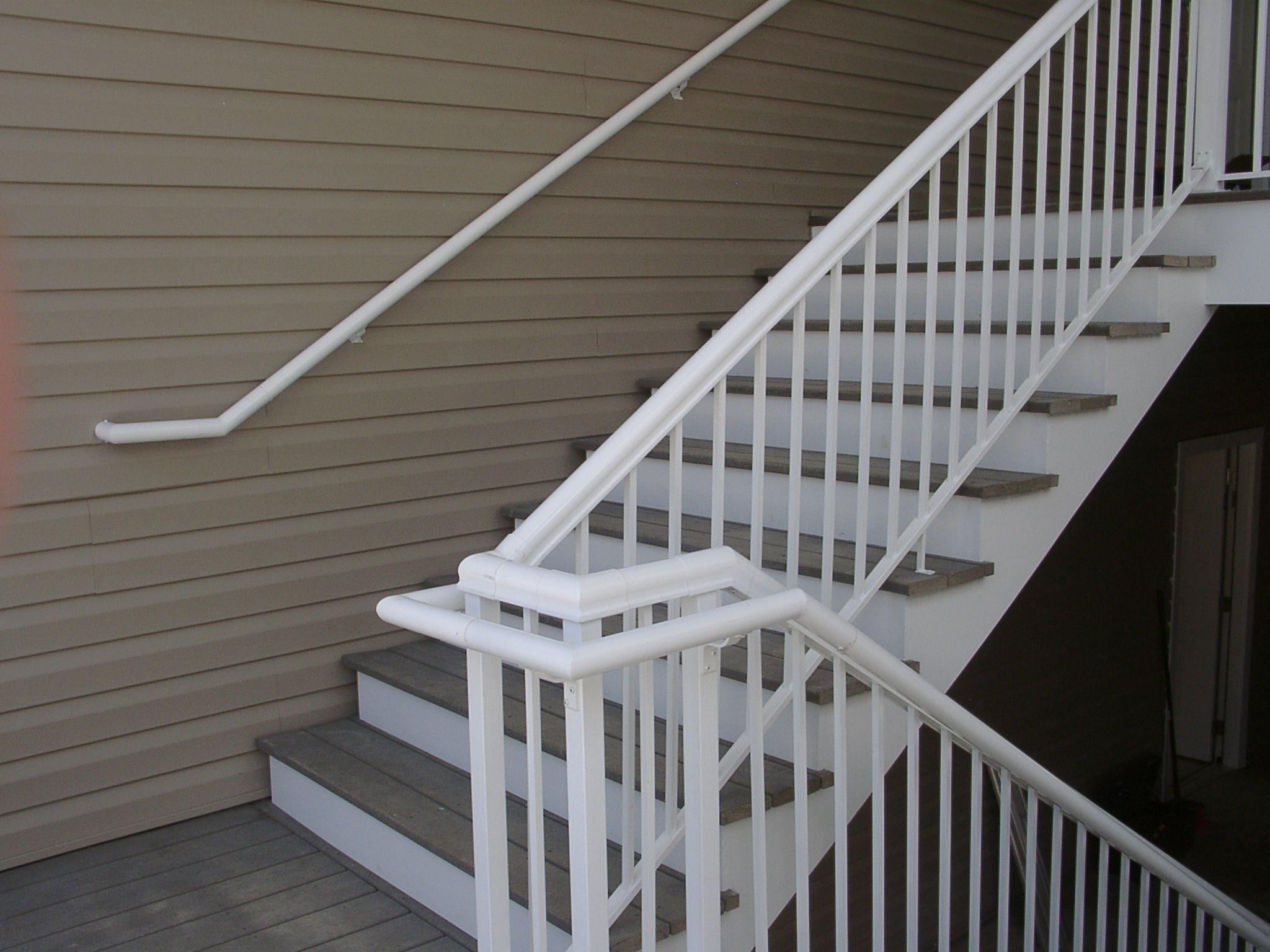 Best Durarail White Welded Picket On Stairs Near Williamsburg 400 x 300
