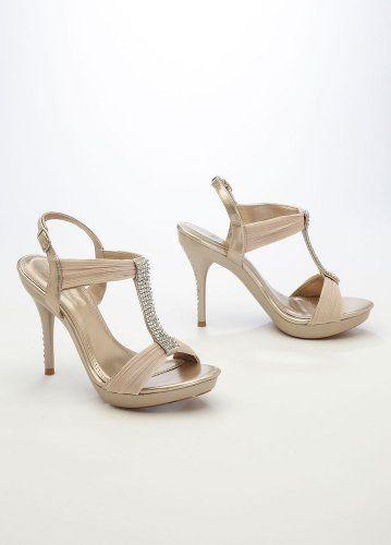 David's Bridal Wedding & Bridesmaid scarpe High Heel Sandalo with