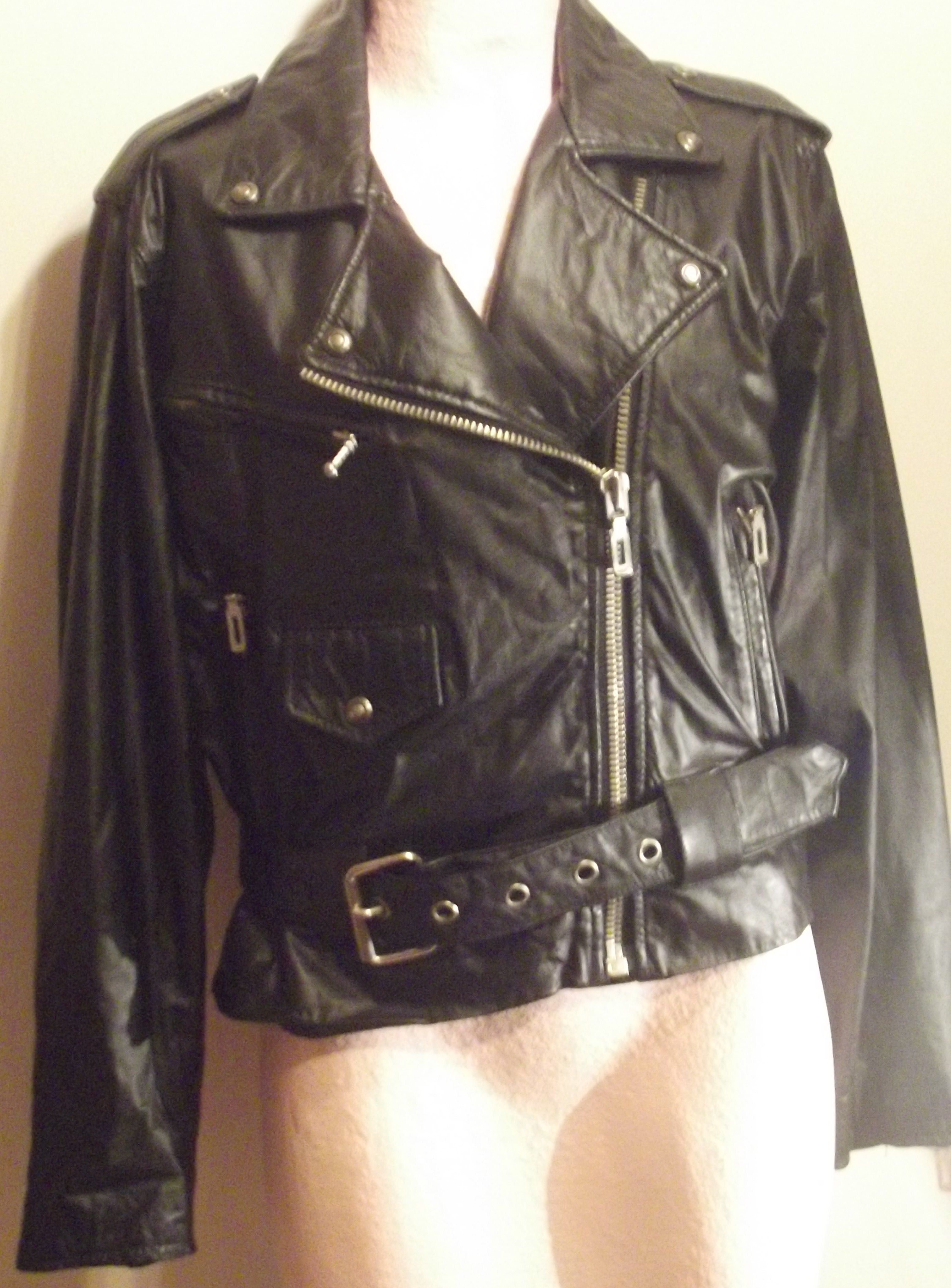 Leather jacket care - 80 S Bad Girl Leather Jacket I Don T Care Who You Are