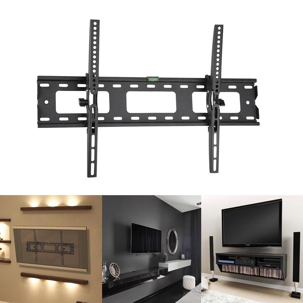 Universal Tilting Tv Wall Mount For 40 65 Flat Panel Screen Tv  # Meuble Tv Ecran Plat Retractable