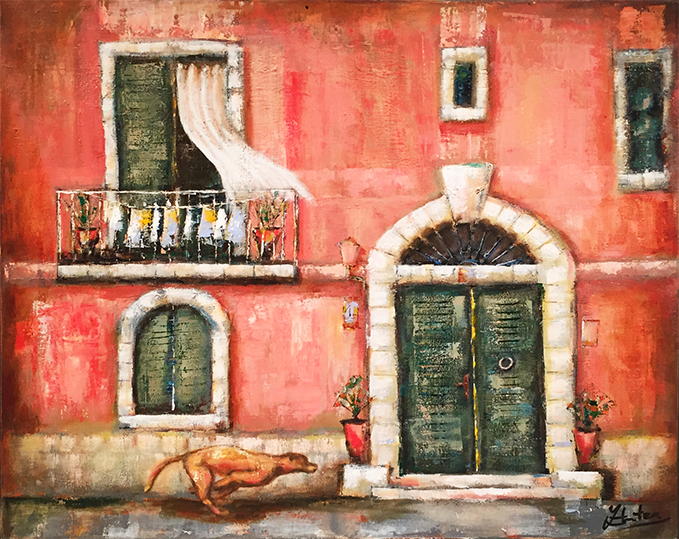 """House without a dog"" Size: 65 x 80 cm"